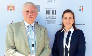 Carlos Gadsden (FIDEGOC), Gloria Ostos, (Participa) en la Cumbre Habitat III, 2016