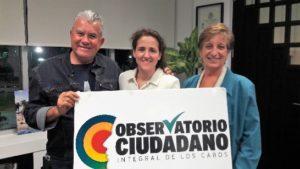 Elías Gutierrez (OCI), Gloria Ostos (Participa), Margarita Díaz (OCI) 2015-2018.
