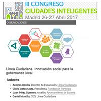 Comunicación III Congreso Ciudadades Inteligentes, Madrid, 2017
